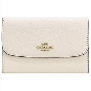 Coach Chalk Pebble Medium Envelope Wallet